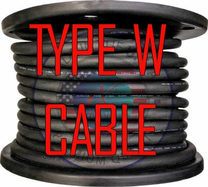 Type W Cable Price Manufacturers Ampacity Specs Made In The Usa Cable Type Manufacturing