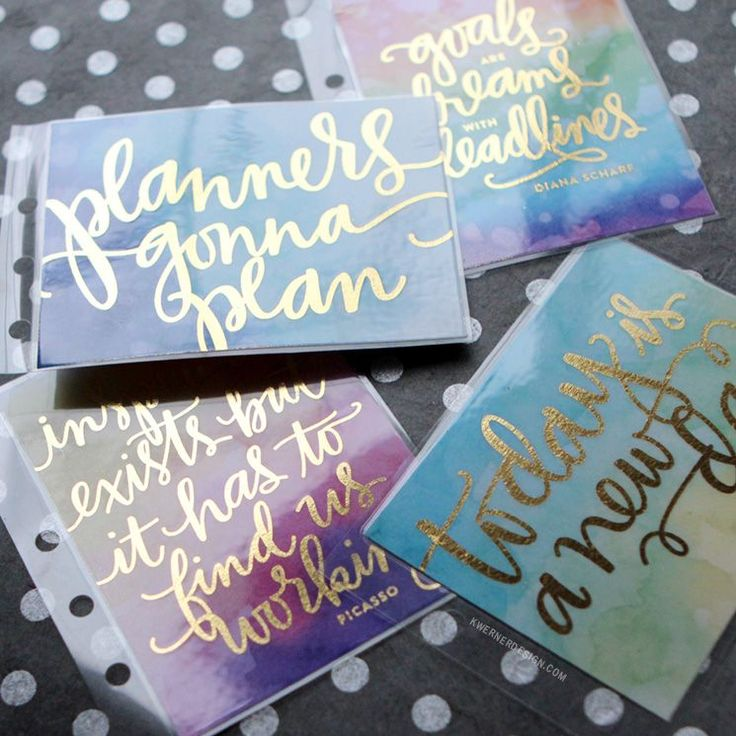 DIY Foil Planner Cards (PL Cards) with Heidi Swapp Minc Mini