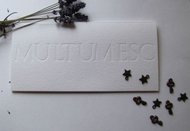 letterpress thank you card