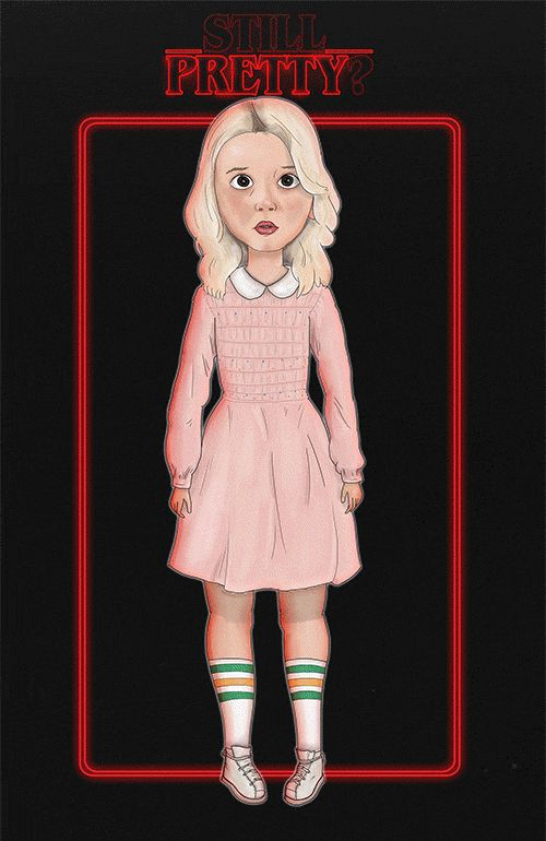 """""""pretty good."""" (eleven from stranger things art gif)"""
