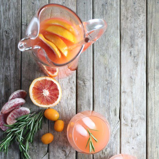, gin, grapefruit, blood orange, & rosemary, finished w/sparkling ...