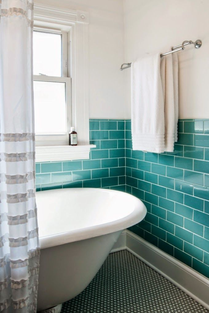 turquoise subway tile | Studio M Interiors