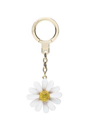 enamel daisy keychain - kate spade new york