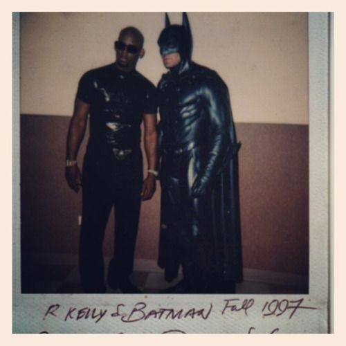 #Flashback Friday Big Time! On the set of Gotham City Remix music video by R. Kelly for the Batman soundtrack. I was Key Makeup and my first time entering the infamous, now former Cabrini Green Projects...and I'm pretty sure the first time the children of Cabrini Green ever seeing the actual BatCar from the film rollin' pass their doors. Circa 1997 Chicago, IL USA Note: Have you ever seen a polaroid picture kiddies?