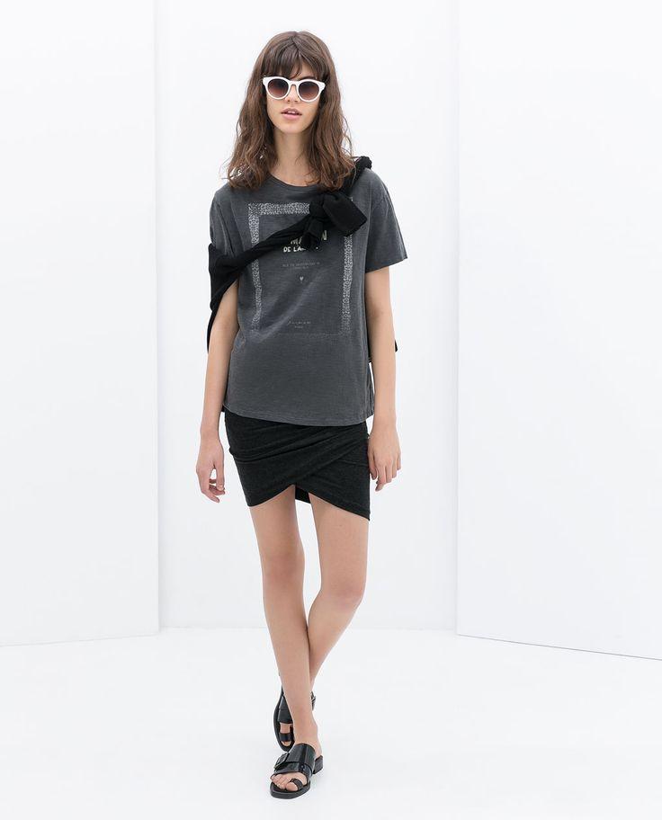 Image 1 of DRAPED MINI SKIRT from Zara