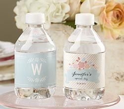 Personalized Water Bottle Labels - Rustic Bridal Shower by Kate Aspen