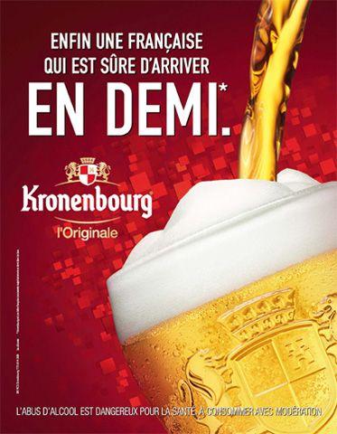 Publicité Onze Mondial bière Kronenbourg