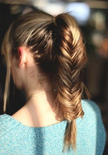 Tail With Herringbone Braid - pictures, photos, images