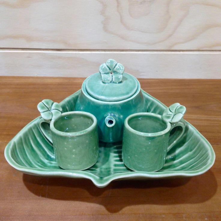 Green Leaf Teapot Gift Set