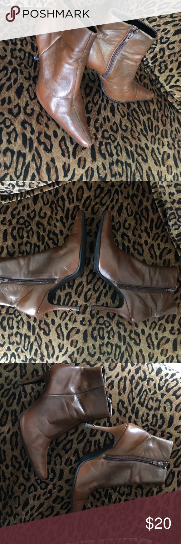 Emilio Bertolini leather boots with side zipper Beautiful pre loved designer boots 3 inch heels Emilio Bertolini Shoes Heeled Boots