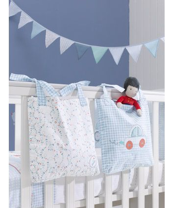 Mothercare Little Beep Beep Cot Pockets - cot tidy & storage baskets - Mothercare