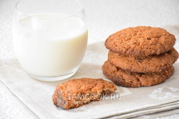 Фото овсяного печенья с корицей