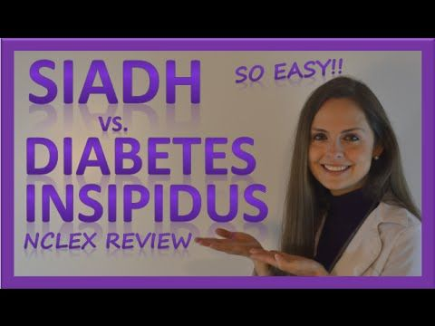 SIADH vs Diabetes Insipidus DI | Endocrine System Nursing NCLEX - YouTube