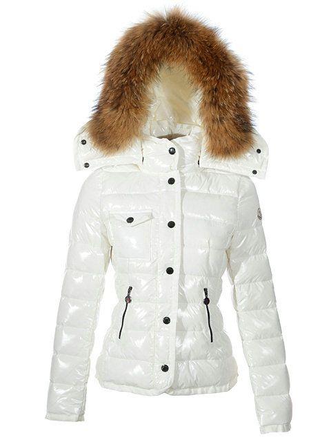Hot Sale Moncler Armoise White Women Jackets