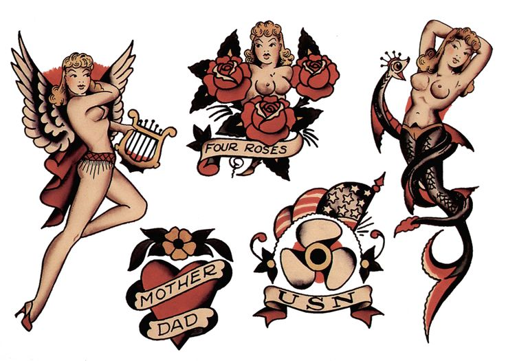 269 best sailor jerry vintage tattoo designs images on for Sailor jerry pin up tattoos