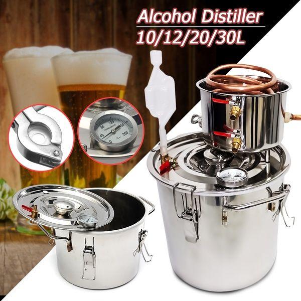 2//3//5//8Gallon Water Wine Alcohol Wine Distiller Moonshine Still Boiler Stainless
