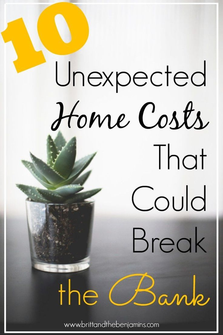 The costs of home ownership don't stop at the down payment. Find out 10 unexpected home costs that could throw your bank account into a tailwind and how to plan to cover each.    Home Ownership I First Time Home Buyer I Debt I Mortgage I Budgeting I Saving I Millennials I Women