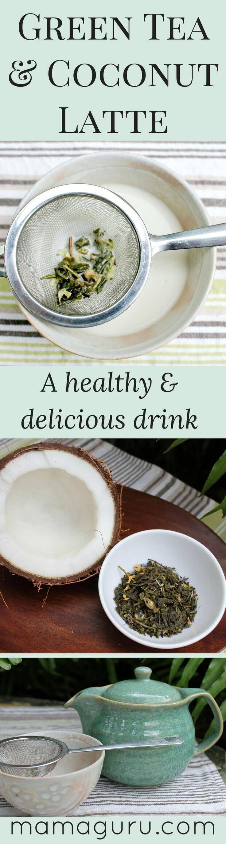 Green Tea | Coconut Milk Recipe | Vegan Recipe | Detox Recipe | Matcha Recipe