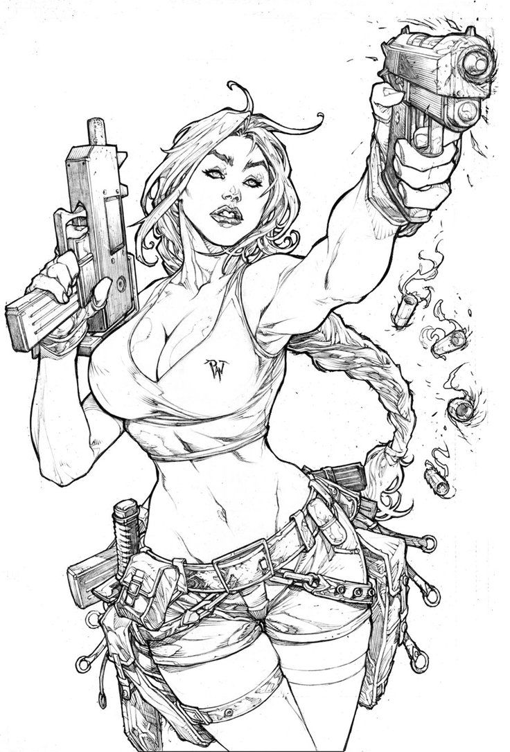 tomb raider strikes again by pant on deviantart - Lara Croft Coloring Pages