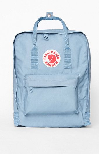 fjallraven kanken backpack. pacsun. sky blue.