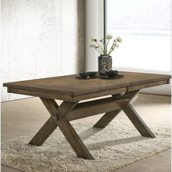 Poe Cross Buck Extendable Dining Table With Images Dining