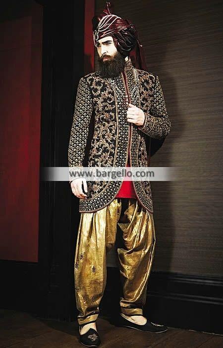 #Menswear #sherwani #indowestern #bespoke #groom #wedding sherwani #asian #indian #pakistani #fashiontrends #uk #usa http://www.bargello.com/Elegant+Groom+Sherwani+with+Attractive+Embellishments-323-Men-0-22074.htm