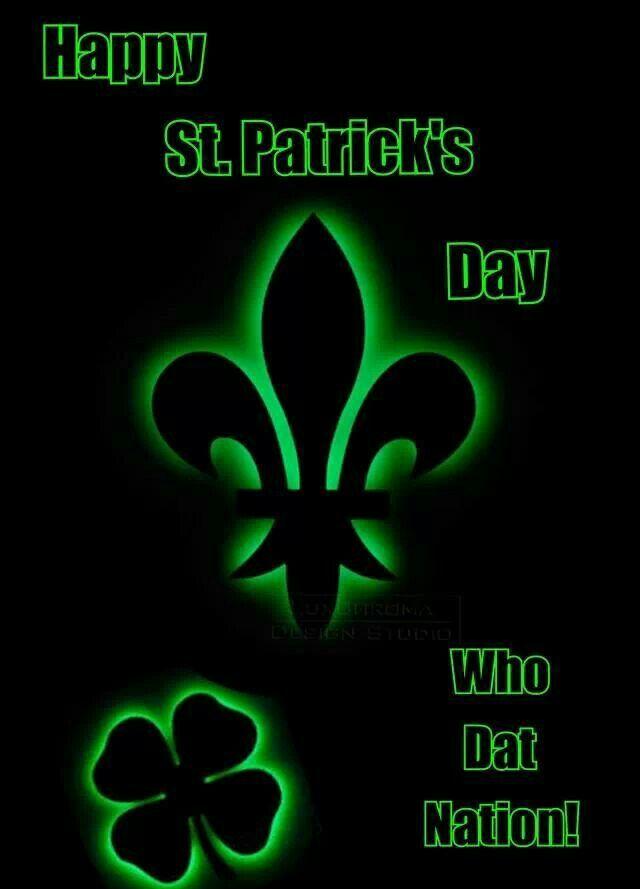 Happy St Patricks Day >> Happy St. Patrick's Day Saints Fans | My New Orleans Saints Diva Den | Pinterest | Saints