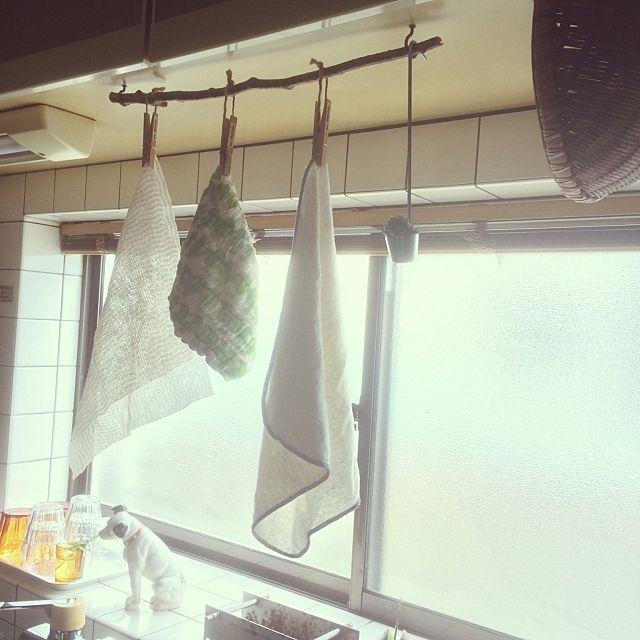 ふきんはいつでも清潔が鉄則 ふきんの置き場所10選 キッチン