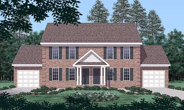 Colonial Multi Family Plan 45369 House Plans Cars And