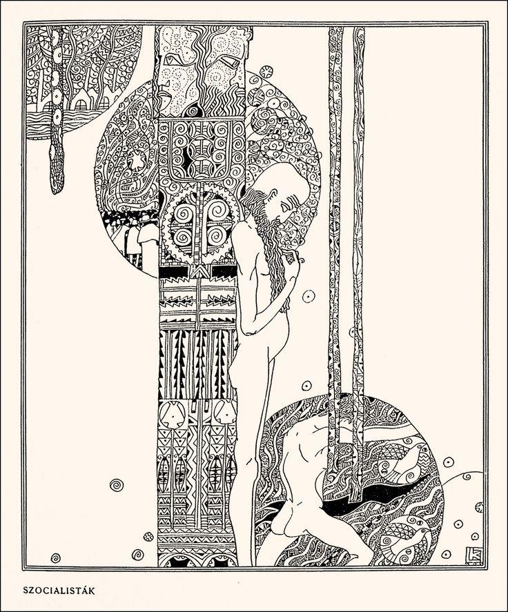 Drawings by Lajos Kozma (1909)