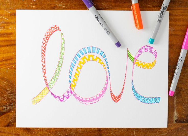 Easy tangle art project from the book Tangle Art and Drawing Games for Kids