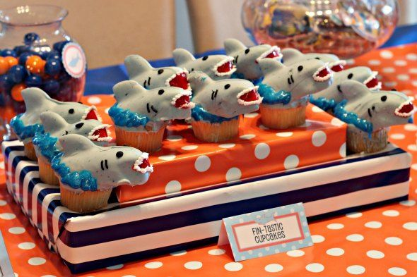 Cupcakes - Shark Birthday Party