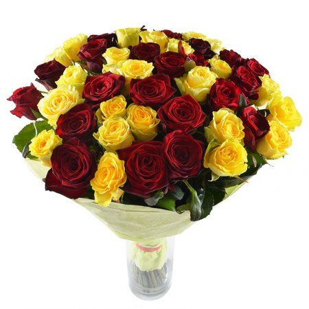 Red #roses symbolize love, yellow ones – welfare, richness and prosperity. With this #bouquet you will show that receiver is special for you