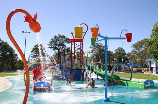 The Ultimate Outdoor Water Splash Park Macquarie Fields Leisure Centre