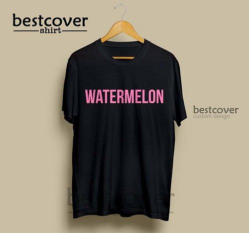 Watermelon Beyonce T-Shirt made from 100% cotton, standard fit, high quality and heavyweight t-shirts.  Item Descriptions  - Pre-Shrunk 100% cotton. - FULLY MACHINE WASHABLE. - Made To Order. - AVAILABLE IN BLACK AND WHITE COLOR
