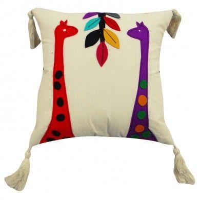 "Cushion Cove 30 Cm Animal Patchwork Designers White Cotton Pillow Case Throw 12"""