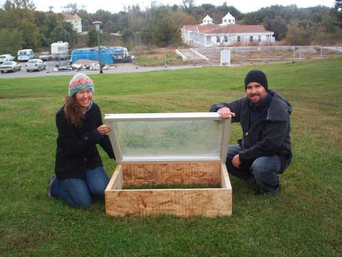 cold frame from old windows. making a couple this year...so I can start my garden earlier!