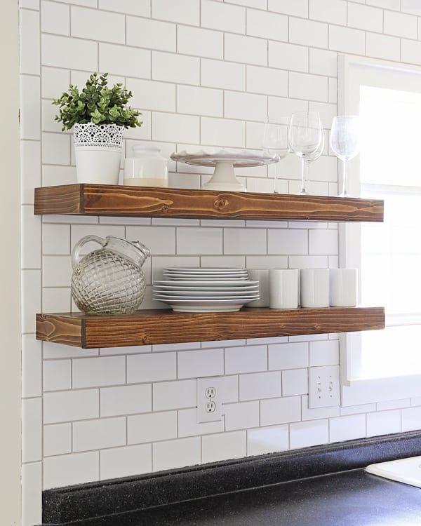 Diy Kitchen Floating Shelves Lessons Learned Diy Furniture