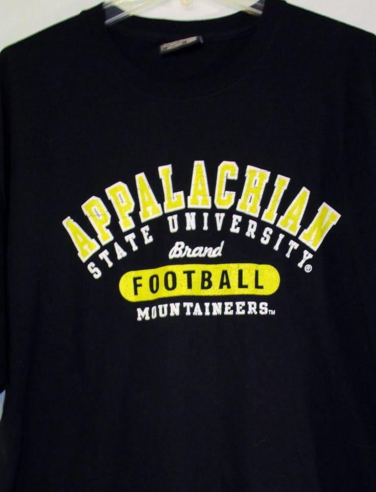 APPALACHIAN STATE MOUNTAINEERS T Shirt Size XXL College Football Apparel Black #SteveBarrysUniversitySportswear #AppalachianStateMountaineers