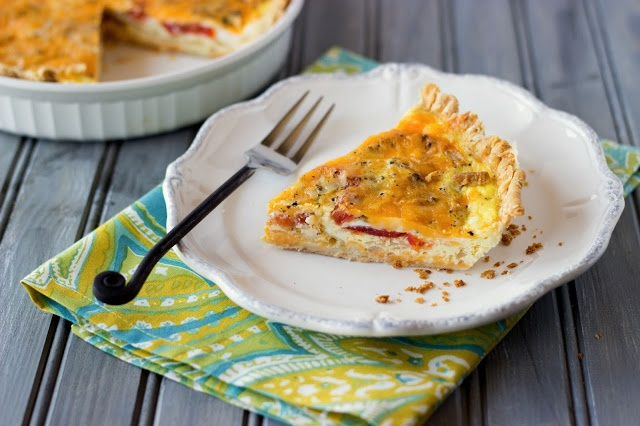 Tomato and basil quiche-Cooking on the Front Burner #quiche. We can ...