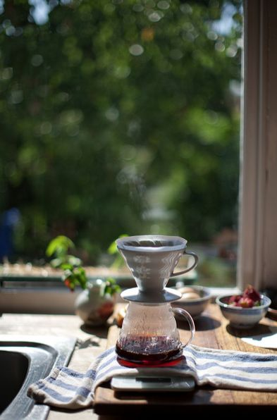 Coffee and morning light . Just beautiful .