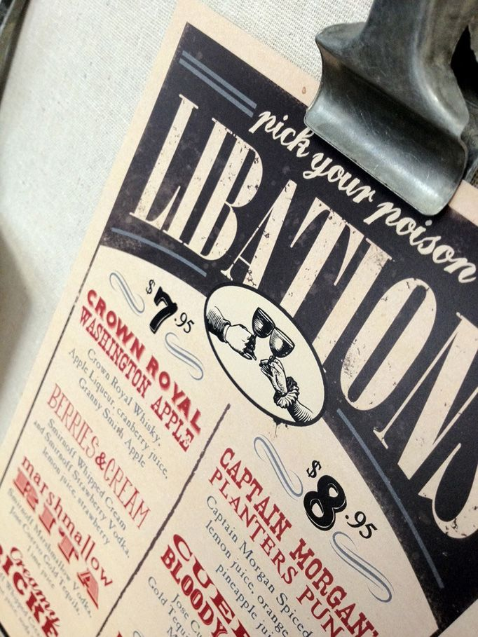 Murphy's Law restaurant bar design menu food
