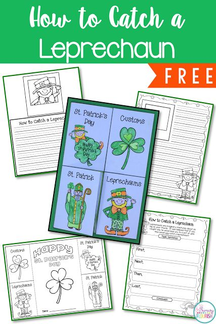 Leprechaun Classroom Visit Ideas ~ How to catch a leprechaun primary flourish first grade