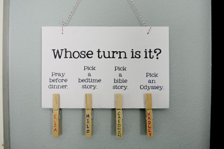 whose turn is it? love this idea that can be adapted for any family and any household chores, etc.