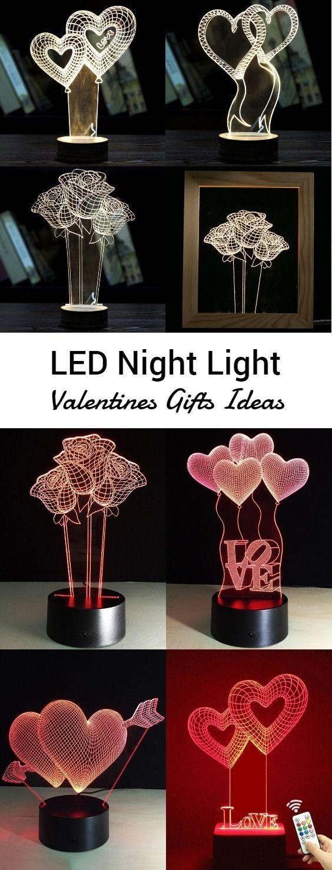 LED Night Light for Valentine Day #valentinesday