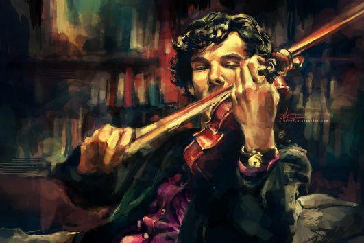 Wonderful art piece of Sherlock Holmes