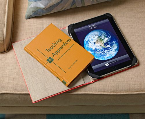 Anyone with an e-reader or tablet could use this awesome case made from a recycled old book,