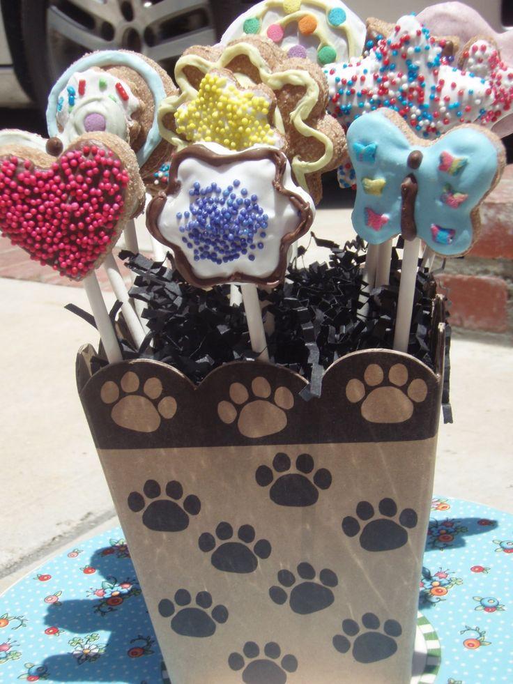 Organic Dog Treats Lollipup Bouquet by shortysgourmettreats
