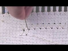 #Embroidery #Hardanger .Learn How To Make Diamond Eyelets.Вышивка хардангер - YouTube