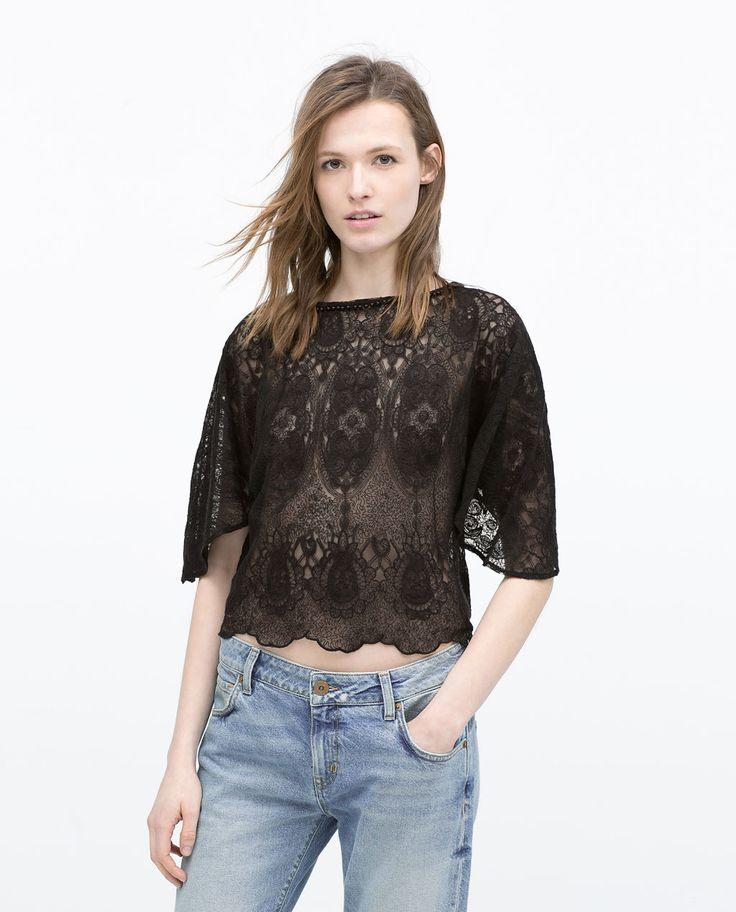 Image 1 of CROCHET TOP from Zara